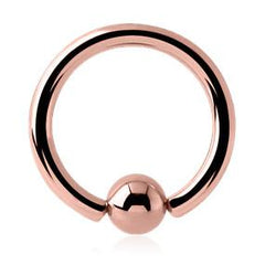 Captive Bead Rings - Rose Gold Plated Captive Bead Ring