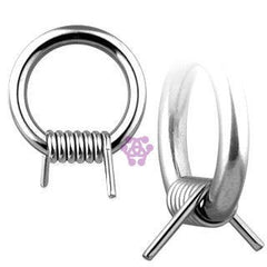 Stainless Steel Captive Barb Ring