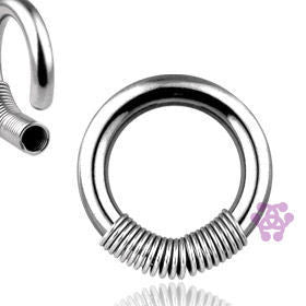 Stainless Steel Captive Coil Ring