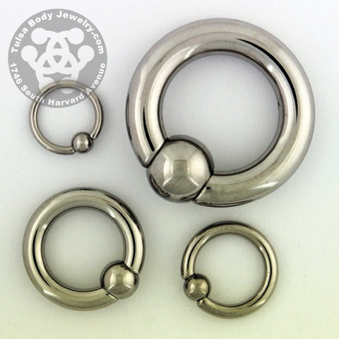 Titanium Captive Bead Ring by Industrial Strength