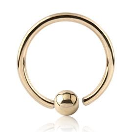 Captive Bead Rings - Yellow 14k Gold Fixed Bead Ring