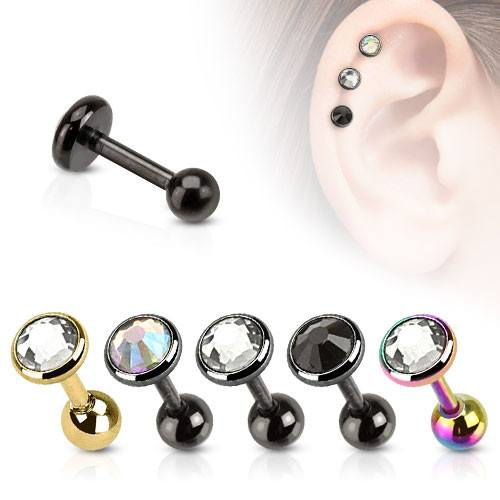 CZ Cartilage Barbell