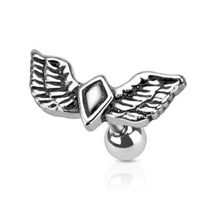 Winged Diamond Cartilage Barbell