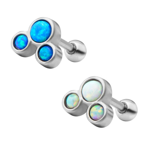 Opal Trio Cartilage Barbell