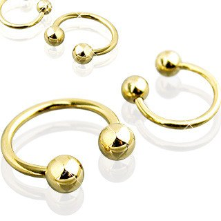 16g Gold Plated Circular Barbell
