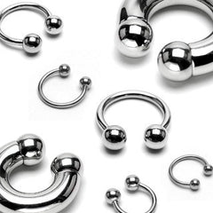 Stainless Steel Circular Barbell (external threads)