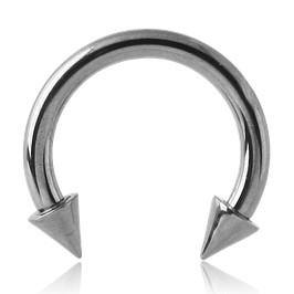 18g Stainless Spiked Circular Barbell