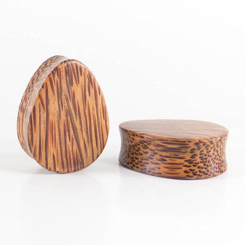 Coconut Palm Wide Teardrop Plugs by Siam Organics