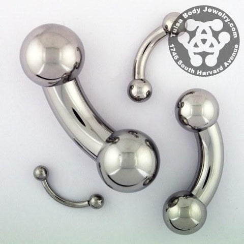 Curved Barbells - Stainless Steel Curved Barbell By Body Circle Designs