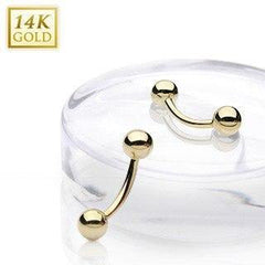 Curved Barbells - Yellow 14k Gold Curved Barbell