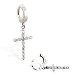 CZ Cross Drop by TummyToys - Tulsa Body Jewelry