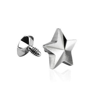 3-D Star Dermal Anchor Top - Tulsa Body Jewelry