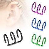 Anodized Triple Ring Ear Cuff