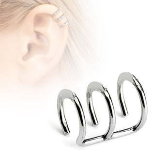 Triple Ring Ear Cuff