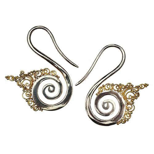 Ear Weights - Bali Spiral Hangers By Evolve Jewelry