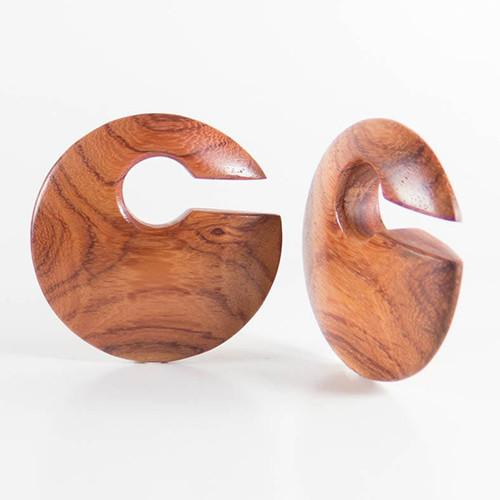 Ear Weights - Bloodwood Discus Weights By Siam Organics