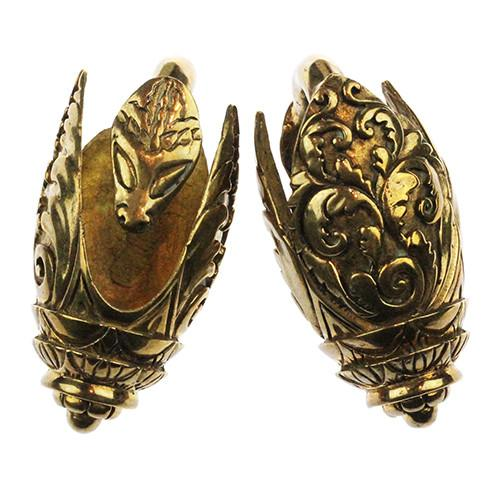 Ear Weights - Feather Khmer Weights By Evolve Jewelry