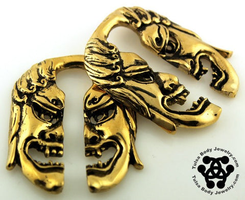 Ear Weights - Fudo Brass Ear Weights By Oracle Body Jewelry