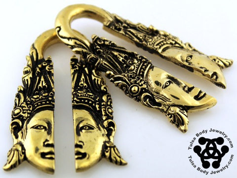 Ear Weights - Goddess Brass Ear Weights By Oracle Body Jewelry