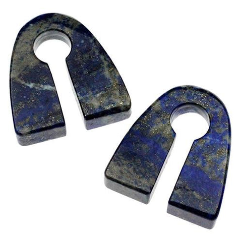 Ear Weights - Lapis Pyramid Weights By Oracle Body Jewelry