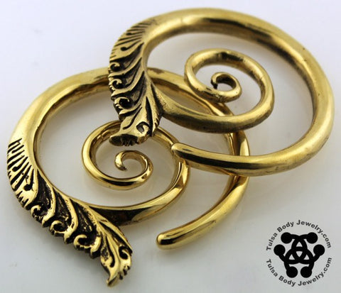 Large Temple Spirals by Oracle Body Jewelry