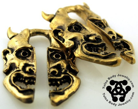Ear Weights - Oni Brass Ear Weights By Oracle Body Jewelry