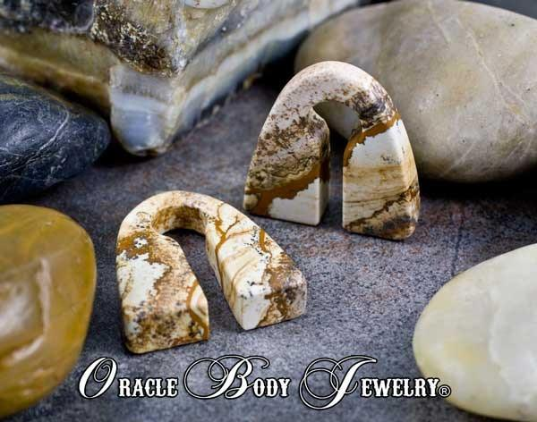Picture Jasper Pyramids by Oracle Body Jewelry