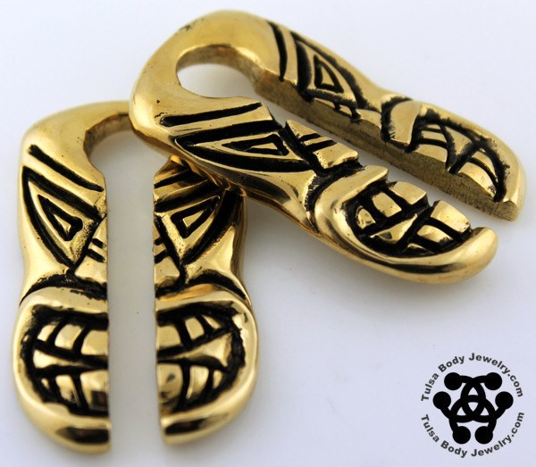 Rounded Tiki Weights by Oracle Body Jewelry