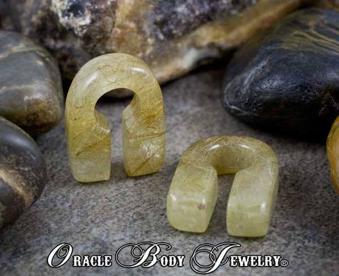 Rutilated Quartz Keyholes by Oracle Body Jewelry