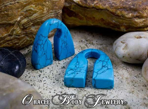 Turquoise Pyramids by Oracle Body Jewelry