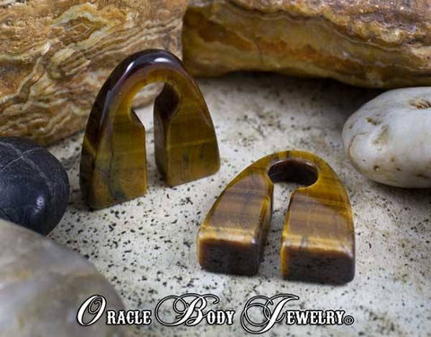 Yellow Tiger Eye Pyramids by Oracle Body Jewelry