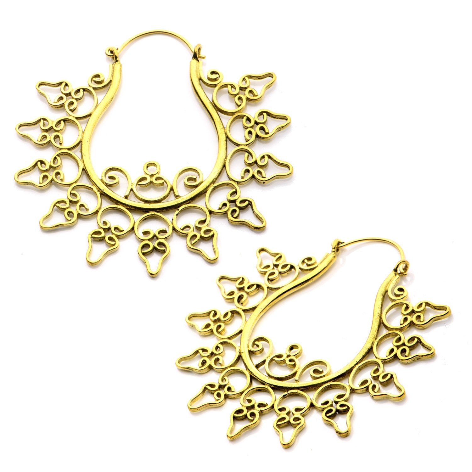 18g Acidulus Brass Earrings
