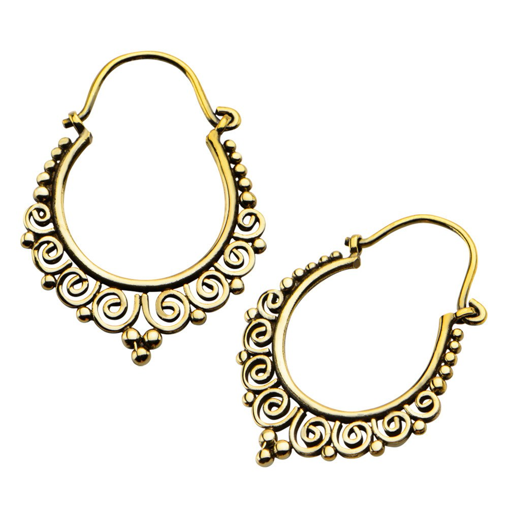 18g Circa Brass Earrings