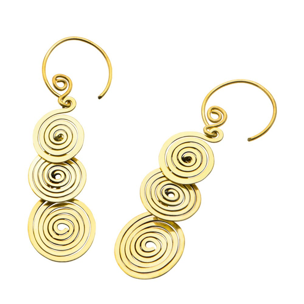 Earrings - 18g Lovari Brass Earrings