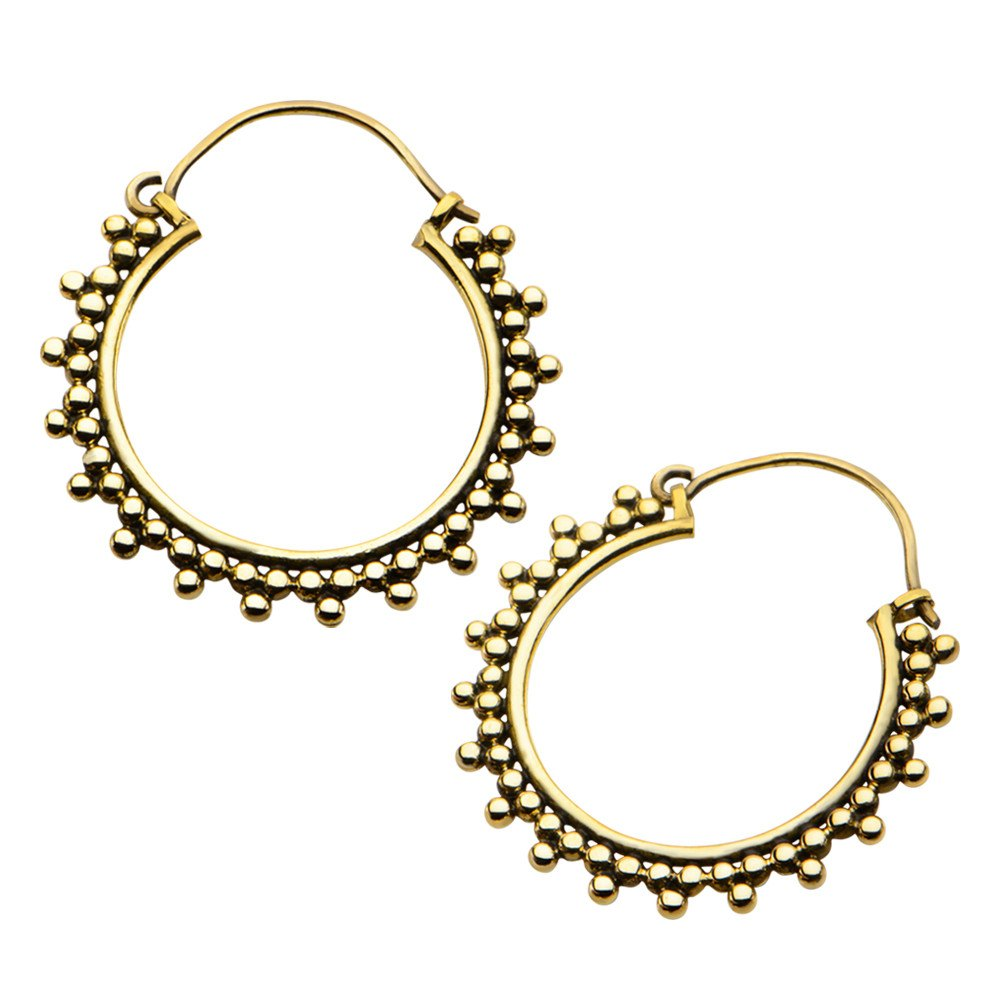 Earrings - 18g Luna Brass Earrings