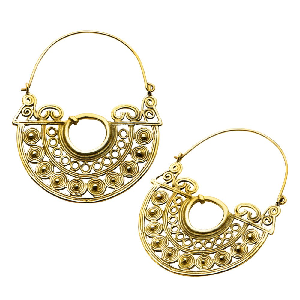 Earrings - 18g Naro Brass Earrings