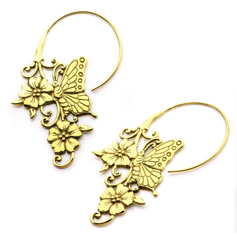 18g Natura Brass Earrings