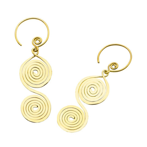 18g Revolite Brass Earrings