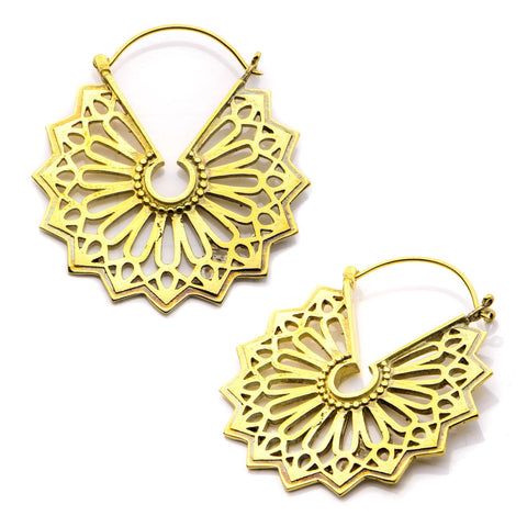 18g Rota Brass Earrings