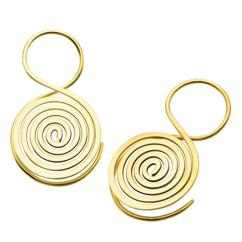 18g Segmada Brass Earrings