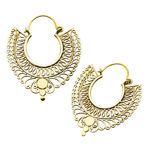 18g Seraphin Brass Earrings