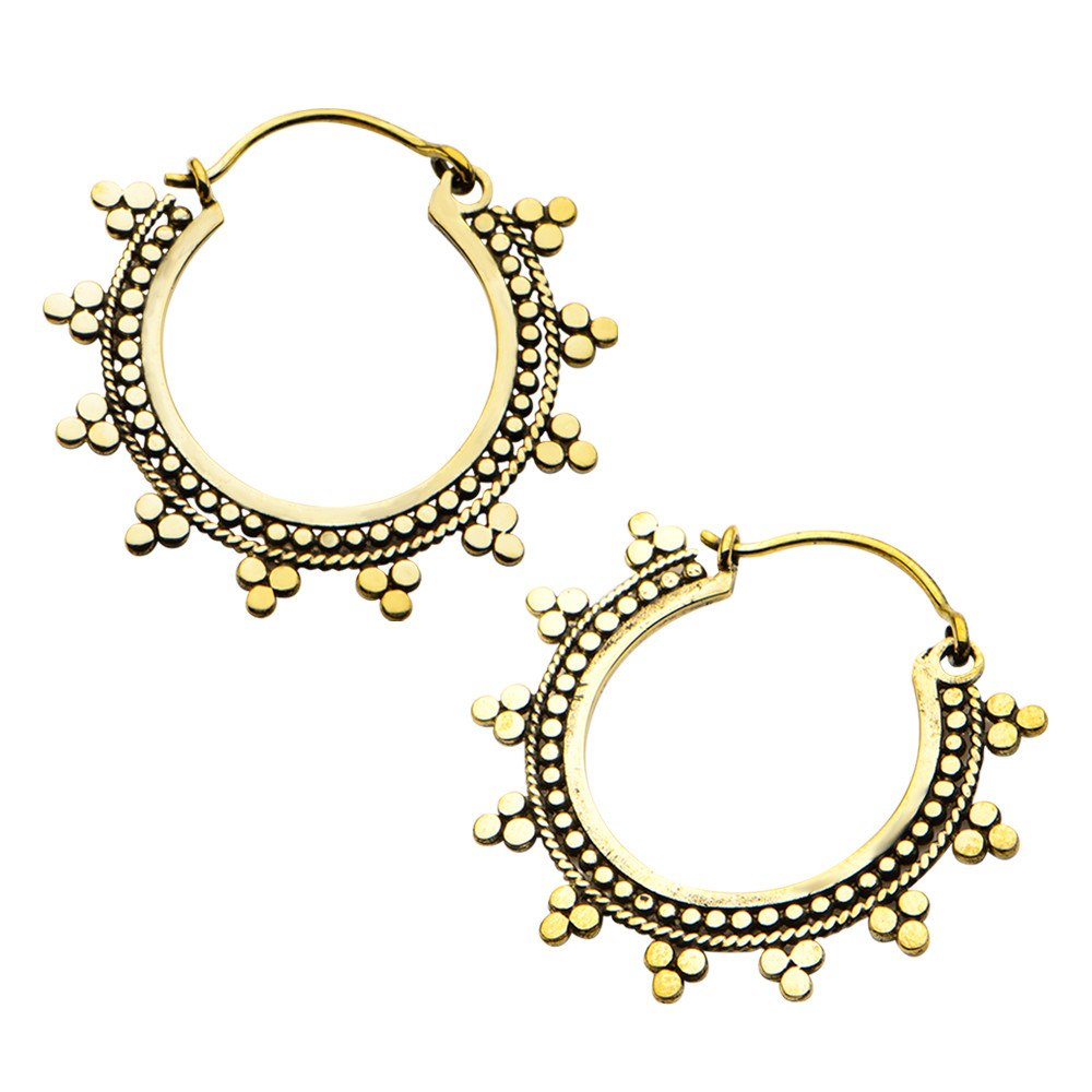 18g Solaris Brass Earrings