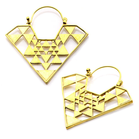 18g Tranzian Brass Earrings