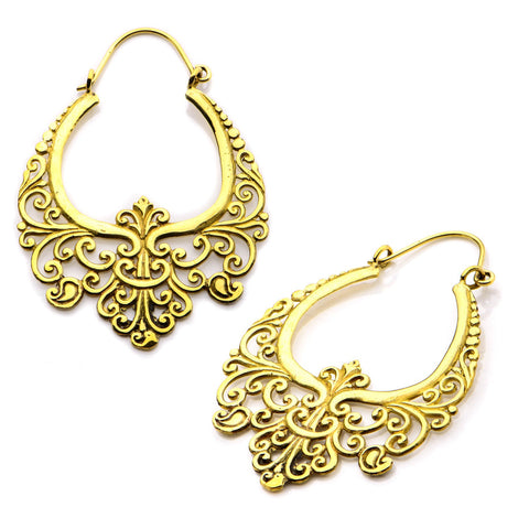 18g Vesper Brass Earrings