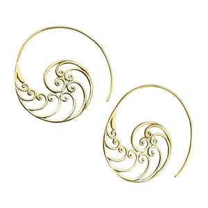 18g Waiver Brass Earrings