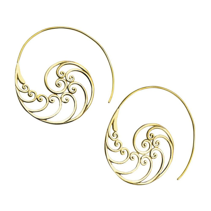 Waiver Brass Earrings