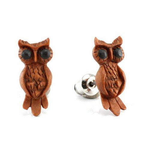 Earrings - Art Owl Earrings By Urban Star