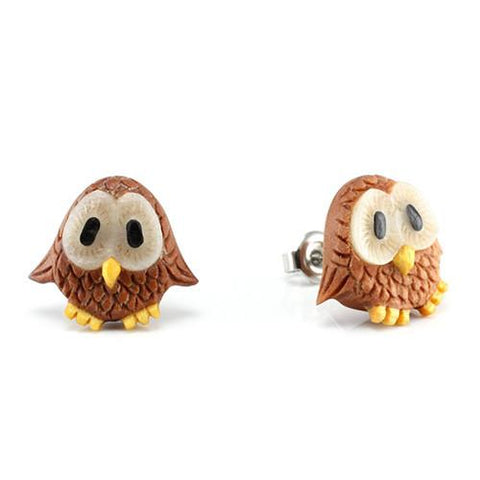 Earrings - Baby Owl Earrings By Urban Star