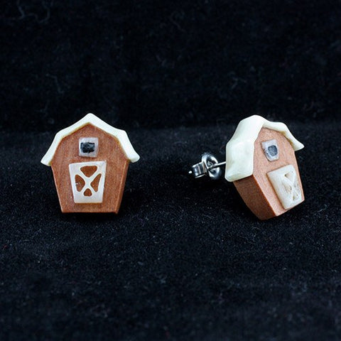 Barn House Earrings by Urban Star