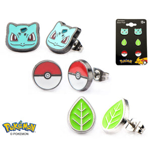 Bulbasaur Earrings 3-Pack